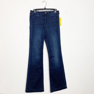 H&M Mid-Rise Flare Jeans Dark Wash Size 28 NWT